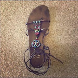 Stuart Weitzman Beaded Sandals